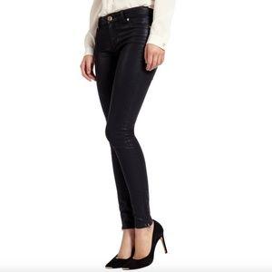 Ted Baker Women's Size 26 Black Waxed Denim Jeans